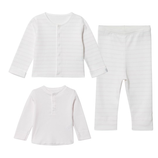Petit Bateau Long ensemble white/light pink LAIT/VIENNE