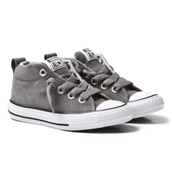 Converse Grey Chuck Taylor All Star Street Mid Junior Trainers