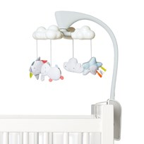 Skip Hop Moonlight & Melodies Projection Mobile Clouds White