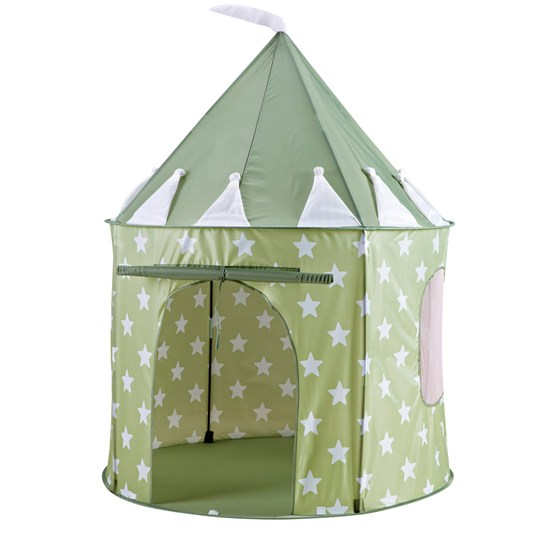Kids Concept Play Tent Star Light Green Green