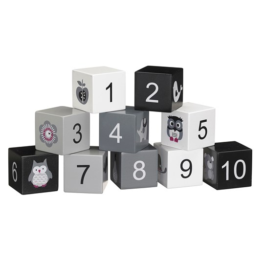 Kids Concept Wooden Number Blocks Black