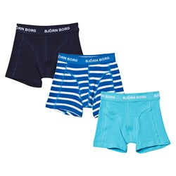 Bjorn Borg 3 Pack of Stripe and Solid Trunks