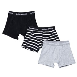 Bjorn Borg 3 Pack of Black, Grey and Navy Trunks