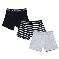 Bjorn Borg 3 Pack of Black, Grey and Navy Trunks 90011
