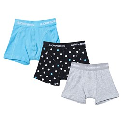 Bjorn Borg 3 Pack of Blue, Spot and Solid Trunks