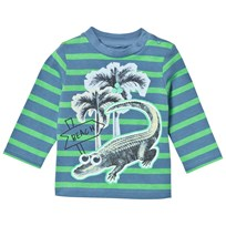 Stella McCartney Kids Stripe T-shirt Print Blå 3740