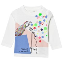 Stella McCartney Kids Parrot Print T-shirt Vit 9232