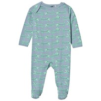 Stella McCartney Kids Sparkdräkt Crocodile Print Blue 3450