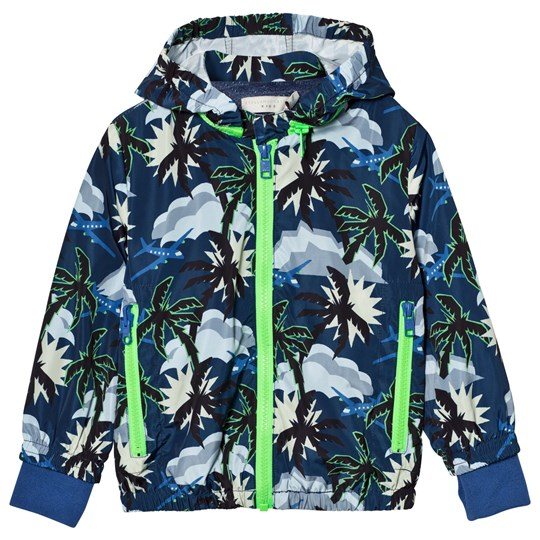 Stella McCartney Kids Blue Hawaiian Print Scout Jacket 4064