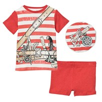 Stella McCartney Kids Red och White Stripe Beach Pyjamas 7543
