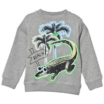 Stella McCartney Kids Sweatshirt Crocodile Print Grå 1461