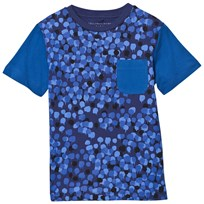 Stella McCartney Kids T-shirt Dripping Camouflage Blå 4065