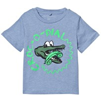 Stella McCartney Kids Green Arrow Crocodile Dial Print T-shirt 4963