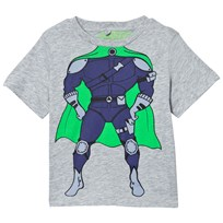 Stella McCartney Kids Grey Arrow Super Hero T-shirt 1461