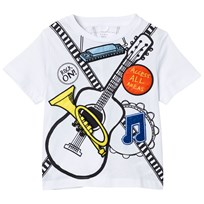 Stella McCartney Kids White Arlow T-shirt Band Badges 9082