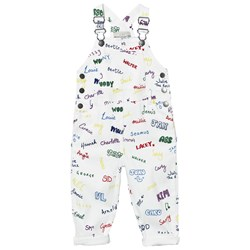 Stella McCartney Kids White Overalls Name Print