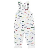 Stella McCartney Kids Name Print Hängselbyxor Vit 9085