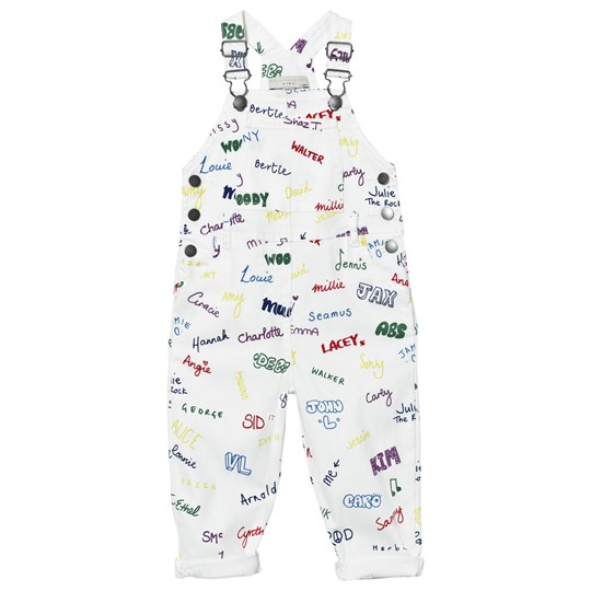 Stella McCartney Kids White Overalls Name Print 9085