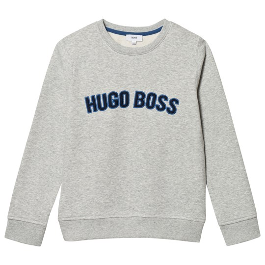 BOSS Grey Embroidered Branded Sweatshirt A89