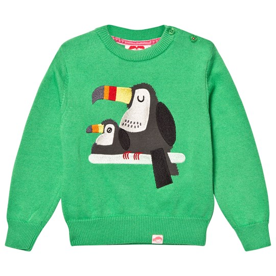 Tootsa MacGinty Kelly Green Toucan Jacquard Knit Jumper KELLY GREEN