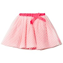 Billieblush Pink Stripe and Tulle Overlay Skirt N74