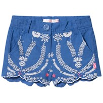 Billieblush Blue Broderie Anglaise Scallop Edge Shorts 863