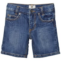 Timberland Blue Mid Wash Denim Shorts Z25