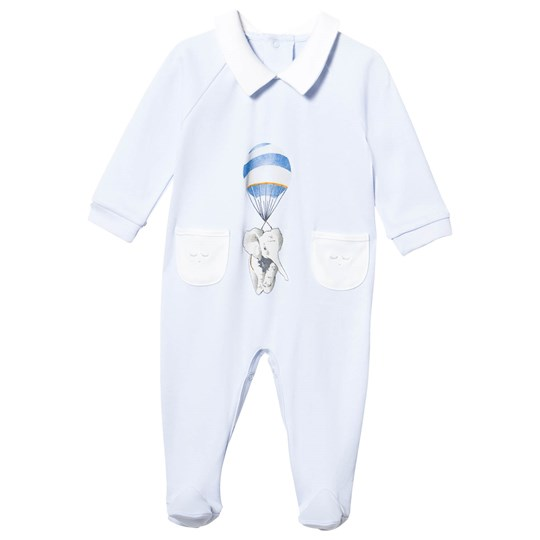 Livly Collar Footed Baby Body Pockets Blue Elephant Blue Elephant Placement