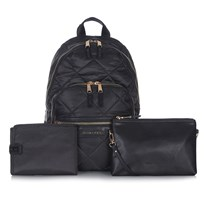 Tiba + Marl Elwood Quilted Backpack Black Black