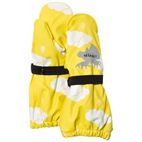 Lindberg Varekil Rain Mittens Yellow White Yellow