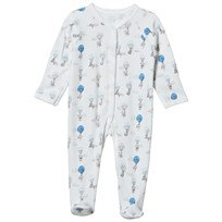 Livly Simplicity Footed Baby Body Blue Elephant Blue Elephant