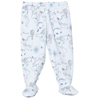 Livly Footed Pants Blue World Map Blue World Map
