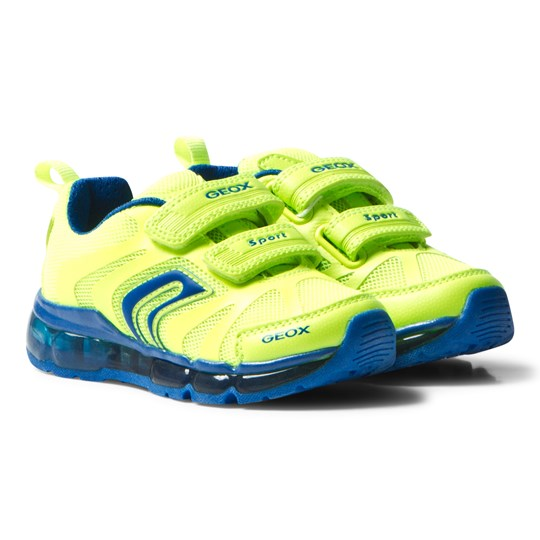 Geox Jr Android Light Up Sneakers Neon Yellow C2HK4