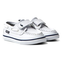 Ralph Lauren Sander Leather Boat Shoe White WHITE ACTION