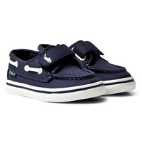 Ralph Lauren Sander Leather Boat Shoe Navy Navy