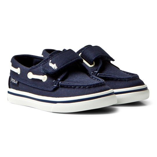 Ralph Lauren Sander Leather Boat Shoe Navy Marinblå