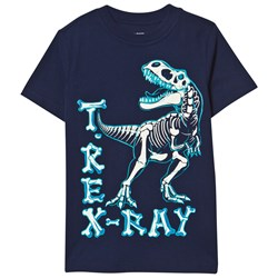 Lands' End Navy Glow In The Dark Graphic Tee