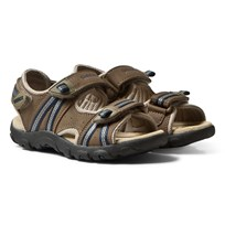 Geox Brown Velcro Strada Sandals C0947