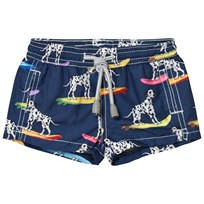 MC2 St Barth Surfing Dalmatian Jean Trunks DALMAIS