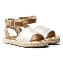 Toms Pale Gold Shimmer Youth Malea Sandals PALE GOLD SHIMMER PU