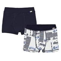 Joha 2-Pack Boxer Shorts Police Print And Navy Police AOP
