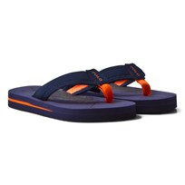 Ralph Lauren Navy and Orange Geo Flip Flops Navy/Orange