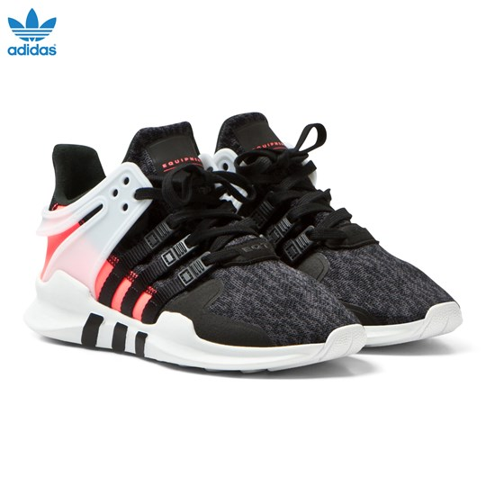 adidas Originals Black Junior EQT Support Trainers CORE BLACK