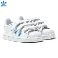 adidas Originals White and Iridescent Infants Superstar Trainers FTWR WHITE
