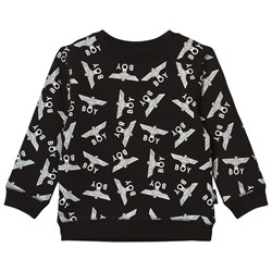 Boy London Boy Repeat Sweatshirt Black/White