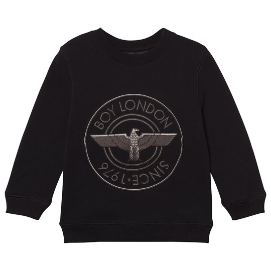 Boy London Black Logo 1976 Applique Sweatshirt Black