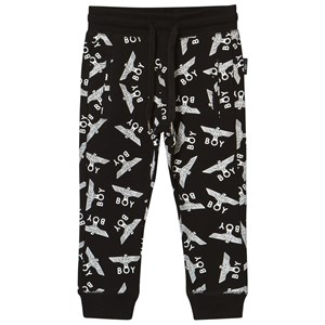 Image of Boy London Boy Eagle Repeat Joggers Black/White 11-12 years (2839669981)