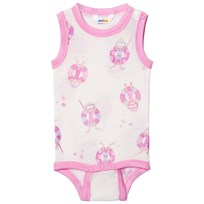 Joha Sleeveless Baby Body Pink Beach Life Print Beach Life Girl