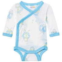 Joha Wrap Around Baby Body Blue Beach Life Print Beach Life Boy