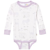 Joha Zoo Long Sleeve Baby Body Fair Orchid Zoo AOP Girl